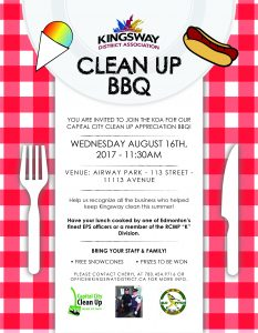 KDA_Capital City Clean up BBQ Poster-01