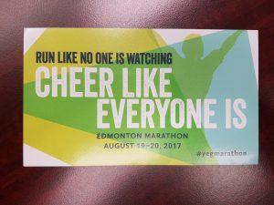 Edmonton Marathon Sticker